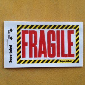 Fragile Labels pack of 10